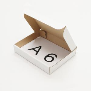 アースダンボール 段ボール箱 国内産 A6サイズ 定形外郵便対応 内寸158×115×27 0289 (10枚セット) qalib