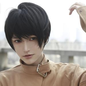 (インマン) INMAN フルウィッグ ウィッグ かつら ショート 短髪 黒髪 ストレート ファッション ゆるふわ 自然 耐熱 (自然黒)|qalib