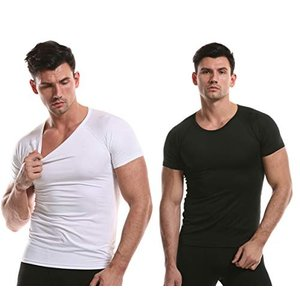 インナーシャツ 2枚セット メンズ 速乾性 冷感 肌着 半袖 Tシャツ スポーツ フィットネス トレ...