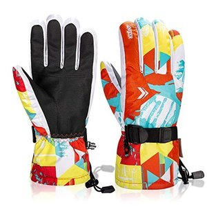 Anqier 防寒手袋 スキーグローブ スノーグローブ スキー グローブ バイクグローブ メンズ レディース 防寒グローブ 手袋 スノボー|qalib