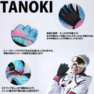 スノーボード グローブ レディース TANOKI スキーグローブ おしゃれ 防水 防寒手袋 スノボー ウェア レディース 女性 厚手 撥水加|qalib