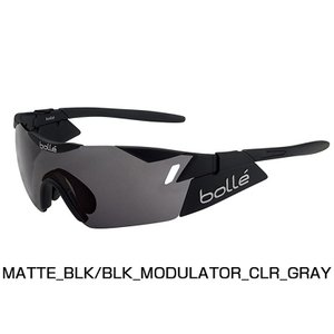 【紫外線対策】bolle ボレー 6TH SENSE MATTE BLACK/BLACK MODULATOR CLEAR GRAY 11912RX|qbei