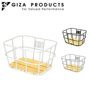 GIZA ギザ ウッドフロントアルミバスケット|qbei