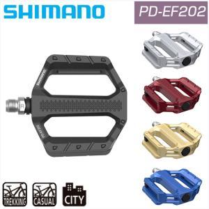シマノ PD-EF202 アルミフラットペダル SHIMANO 一部即納 ペダル フラットペダル クロスバイクの画像