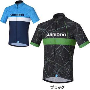 《即納》【2019年春夏モデル】SHIMANO シマノ SHIMANO TEAM JERSEY チームジャージ CW-JSPS-SS21M|qbei