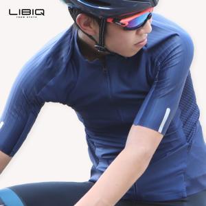 《即納》5と0つく日P10倍!LIBIQ リビック ロングライド専用ウィングジャージ 半袖 サイクルジャージ メンズ ロードバイク用ウェア《P》|qbei