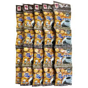 ミレービスケット コーヒー味 野村 のむら 4連ミレービスケット(5個セット) 送料込価格(※北海道・沖縄県の方は送料500円となります) qeskesmoppet