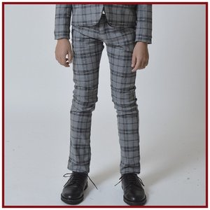 SALE(20%OFF)卒業式 スーツ 男の子 ジェネレーター 子供服 OGチェックスリムパンツ(グレー) 150cm/160cm メーカー希望小売価格10,152(税込)|qeskesmoppet