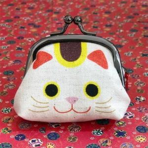 日本製 日本の縁起 2.2寸がま口 縁起物 まねきねこ 招き猫 財布 レディース がま口 ガマ口 コインケース 小銭入れ ウォレット ねこ雑貨 猫雑貨|qeskesmoppet