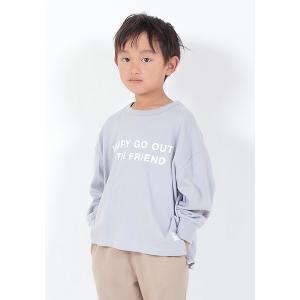 FOV 子供服 PLAIN L/S HAPPY ビッグTシャツ 90cm-170cm ジェネレーター子供服 qeskesmoppet