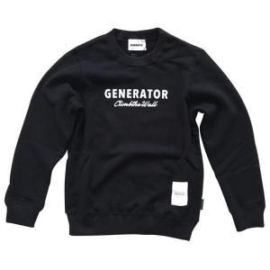 c42980ec72d78 (40%OFF セール)ジェネレーター 子供服 generator プリントスウェットトレーナー(GENERATOR)ブラック(100cm-140cm)