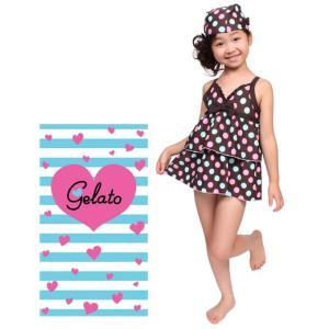 送料無料 DM便対応 Gelato 帽子付き 女の子 子供水着 2660 ジュニア |qma001