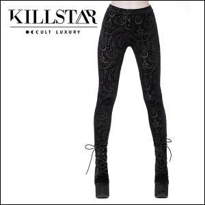 ac2690fe307fbb 【予約】KILLSTAR キルスター Saiph Burnout Velvet Leggings [B]レギンス|qooza- ...