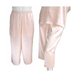 100%シルク パンツ(七分丈)(ピンク)|qplan