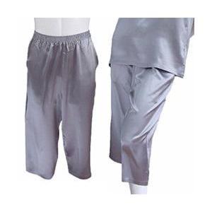 100%シルク パンツ(七分丈)(グレー)|qplan