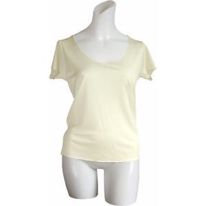 100%シルク フレンチスリーブシャツ(ナチュラル)|qplan