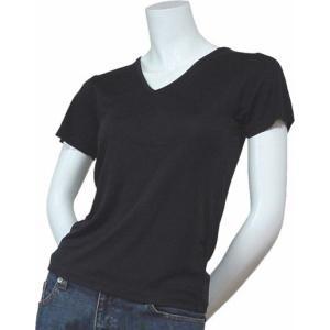 100%シルク ニットTシャツ(ブラック)|qplan