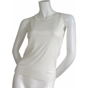 100%シルク ニットタンクトップLadies'(ホワイト)|qplan