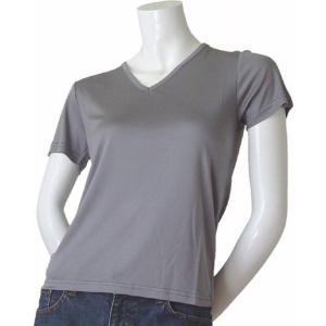 100%シルク ニットTシャツ(グレー)|qplan