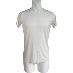 100%シルク 丸首シャツ(ナチュラル)|qplan