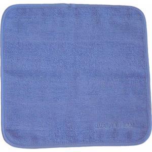 シルク ミニタオル(ブルー)|qplan