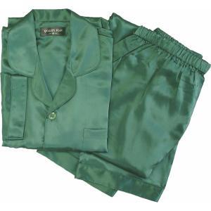 100%シルク メンズパジャマ(ダークグリーン)|qplan
