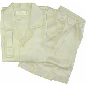100%シルク メンズパジャマ(アイボリー)|qplan