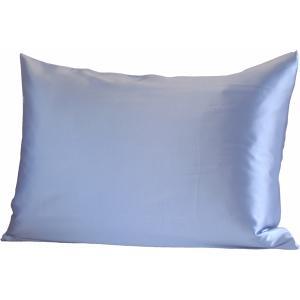 100%シルク ピローケース(ブルー)|qplan