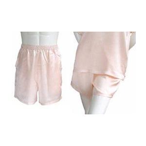 100%シルク パンツ(ショートパンツ)(ピンク)|qplan
