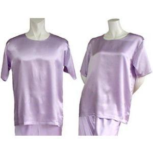 100%シルク Tシャツ(パープル)|qplan