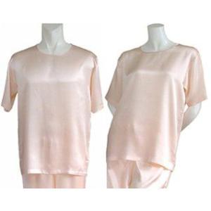 100%シルク Tシャツ(ピンク)|qplan