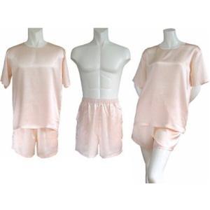 100%シルク Tシャツ&ショートパンツ(ピンク)|qplan