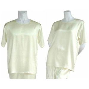 100%シルク Tシャツ(アイボリー)|qplan