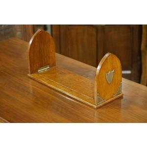英国イギリスアンティーク 卓上本立て 伸長式ブックエンド オーク材 ブックラック 1930年代 7394|qs-antiques