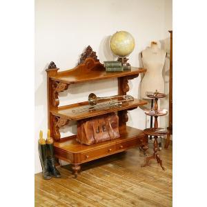 英国イギリスアンティーク家具 1850年代 ビクトリアン バッフェ Buffet マホガニー総無垢 ショップ店舗什器 7452W|qs-antiques