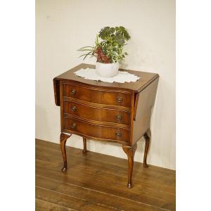 英国イギリスアンティーク家具 ドロップリーフチェスト 伸長式 バタフライテーブル 猫脚 8268 qs-antiques