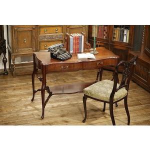英国イギリスアンティーク家具 ビクトリアン ホールテーブル ソファテーブル デスク 机  彫刻 8283W|qs-antiques