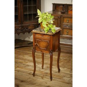 西洋骨董フランスアンティーク家具 大理石天板 サイドキャビネット  サイドテーブル FRANCE フレンチ 8286 qs-antiques