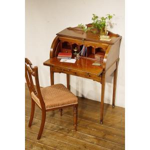 英国イギリスアンティーク家具 ヴィクトリアン ロールトップデスク 机  ライティングビューロー 8301|qs-antiques