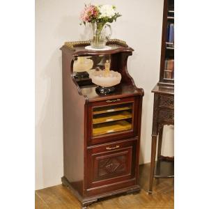 英国イギリスアンティーク家具1890年代 ビクトリアン ミュージックキャビネット ブックケース 書棚本棚 8341|qs-antiques