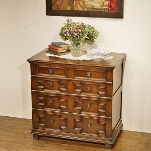 イギリス英国アンティーク家具 チェスト ジャコビアンスタイル オーク材 樫 8397 qs-antiques