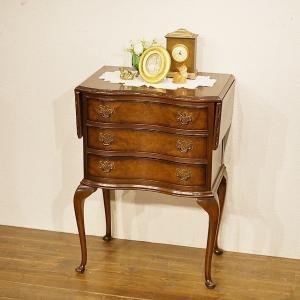 英国イギリスアンティーク家具 ドロップリーフチェスト 伸長式 バタフライテーブル 猫脚 8436 qs-antiques
