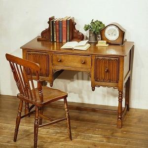 英国イギリスアンティーク家具 デスク 両袖机 書斎 オーク材 樫 8448W|qs-antiques