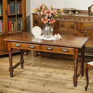 英国イギリスアンティーク家具 ホールテーブル ソファテーブル デスク 机  8458W|qs-antiques