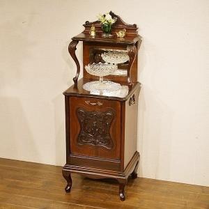 英国イギリスアンティーク家具 1890年代 ビクトリアンコールボックス 石炭入れ マホガニー材総無垢 8464|qs-antiques
