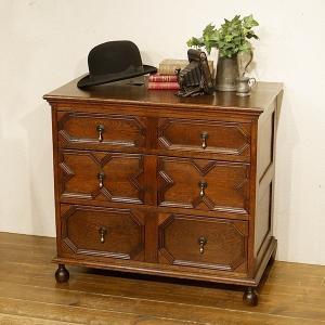イギリス英国アンティーク家具 チェスト ジャコビアンスタイル オーク材 樫 8490 qs-antiques
