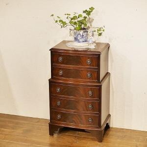 英国アンティーク家具 チェストオンチェスト マホガニー材 スモールサイズ ベッドサイドキャビネット 8537 qs-antiques