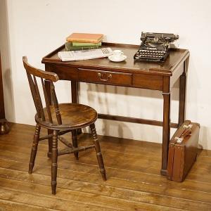 英国イギリスアンティーク家具 1910年代 エドワーディアン 天板本革張り デスク 机 8551|qs-antiques