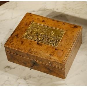 英国イギリスアンティーク BOX レリーフの蓋付きボックス 8593 |qs-antiques
