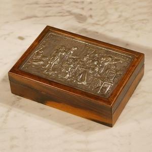 英国イギリスアンティーク BOX レリーフの蓋付きボックス 8594 |qs-antiques